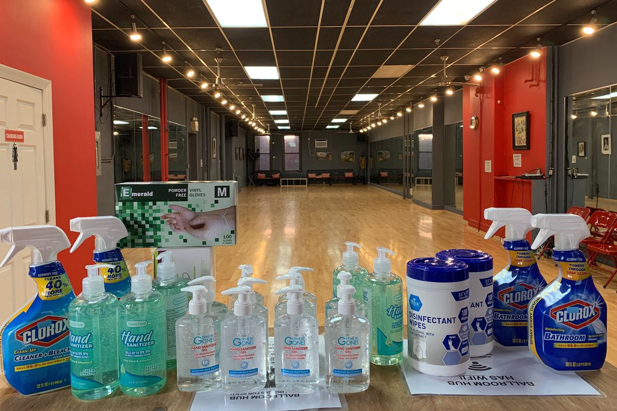 Ballroom Hub in Manhattan was taking protective measures during the coronavirus outbreak until they were shut down by the city sheriff's office.