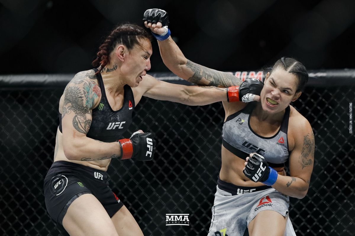 Cris Cyborg lost by first-round knockout to Amanda Nunes in California.  Esther Lin, MMA Fighting