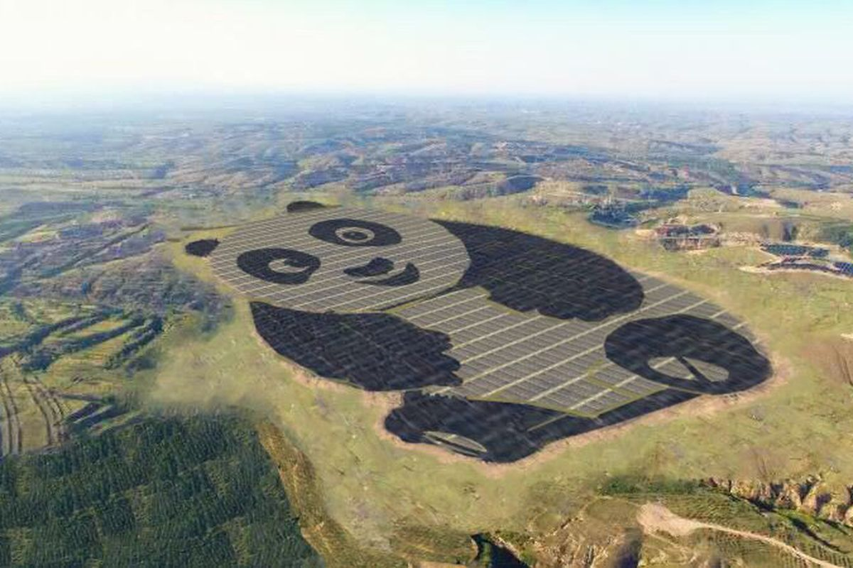 China Just Built A Solar Power Array That Looks Like Panda Vox Do Panels Work How Diagram For Kids Artists Rendering Of Plant In Datong Undp Chinese