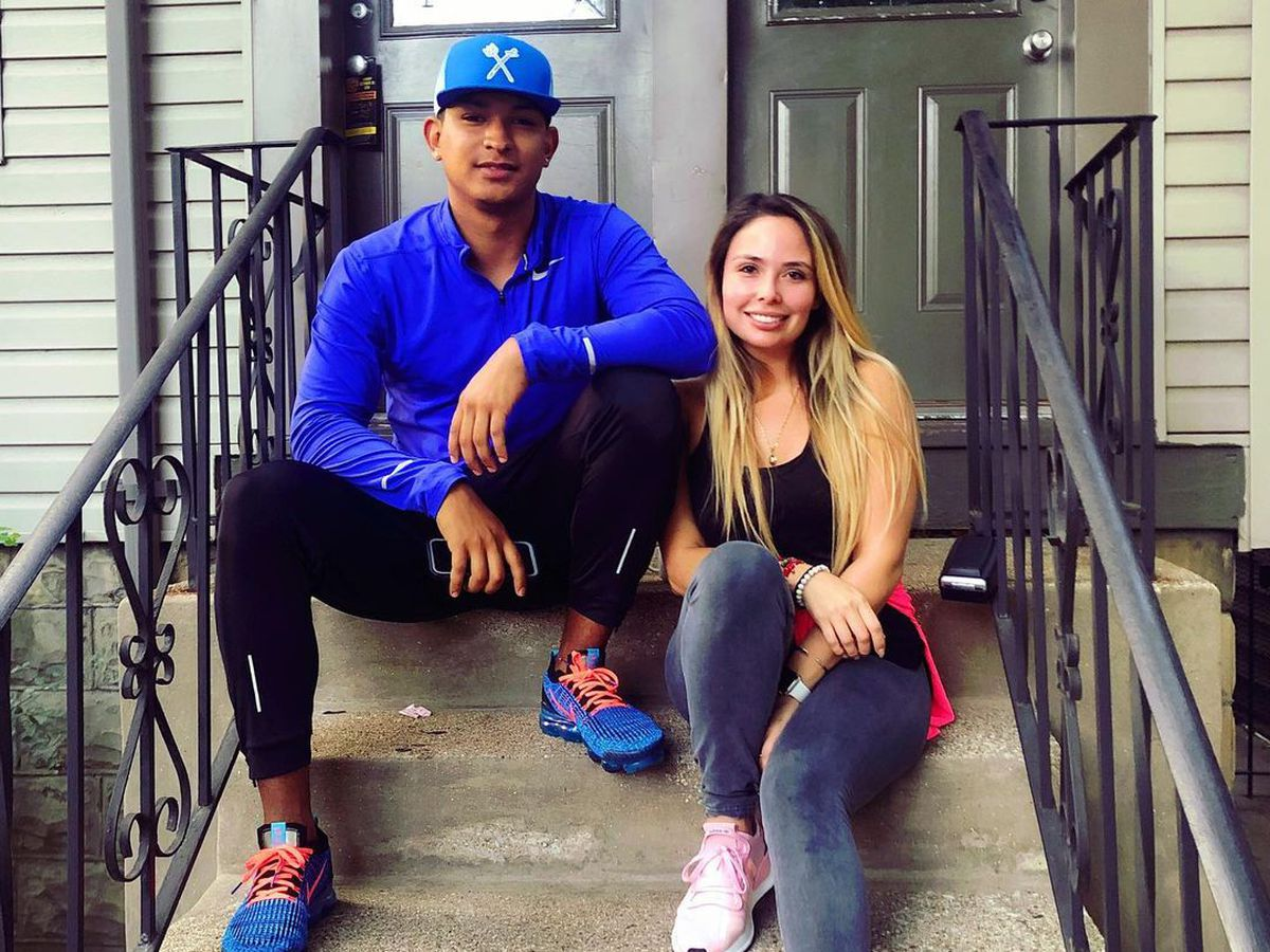 """""""She taught me how to eat,"""" Cubs pitcher Adbert Alzolay said of his wife, nutritionist  Diana Inzunza. """"That's a game-changer right there. She knows what she's doing and she's been on me."""""""