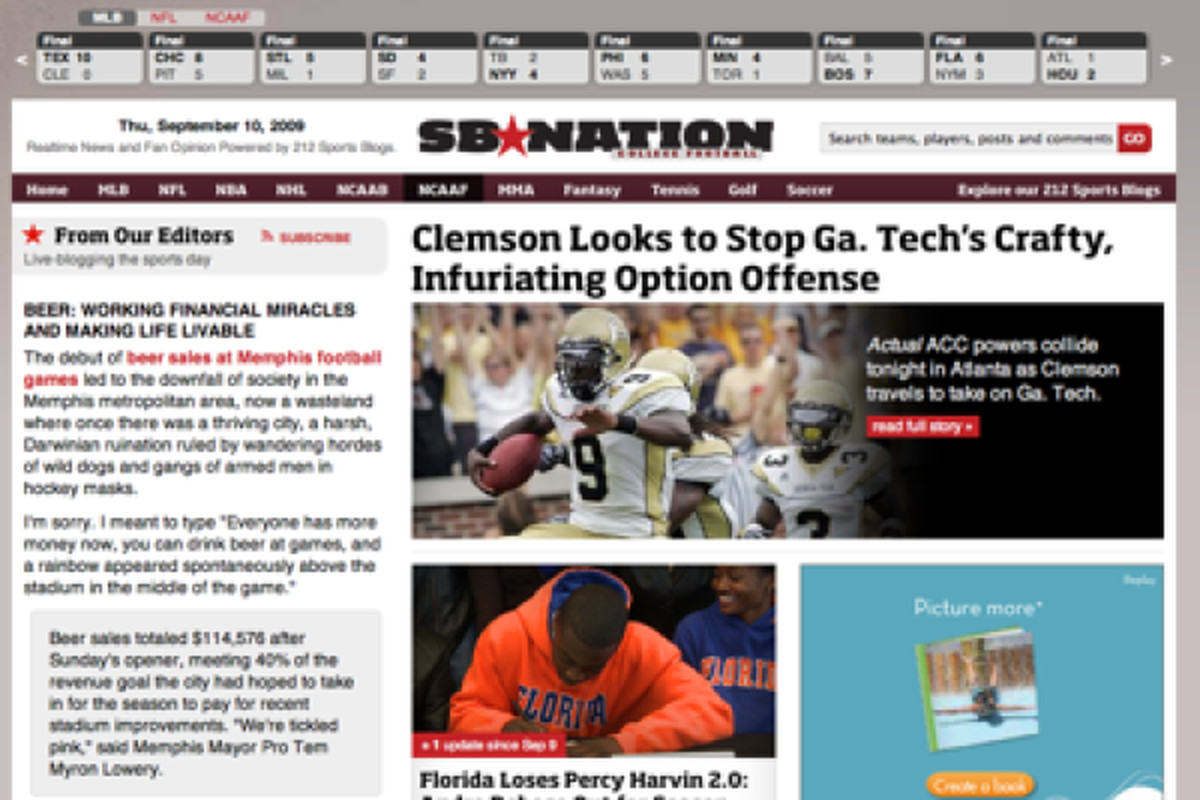 The all new SBNation.com-- now, better than ever.