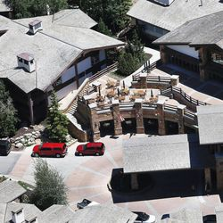 """The Stein Eriksen Lodge Deer Valley """""""" site of Mitt Romney's annual E2 Summit """""""" is pictured in Park City on Friday, June 9, 2017."""