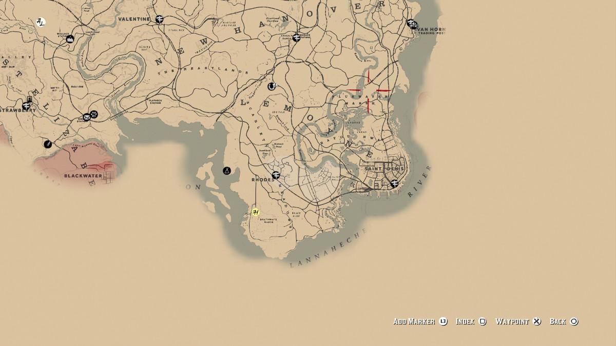 Red Dead Redemption 2Legendary Boar location