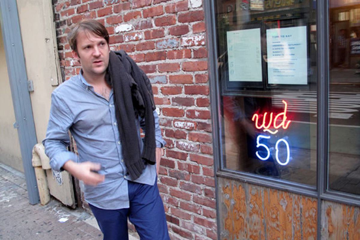 René Redzepi arrives at wd~50, the pot of foamed gold at the end of the rainbow.