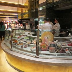 Your first introduction to Giada is a tour that starts at the antipasto station.