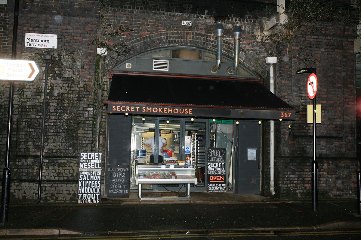 Secret Smokehouse in the arches at London Fields closed during the coronavirus lockdown in London