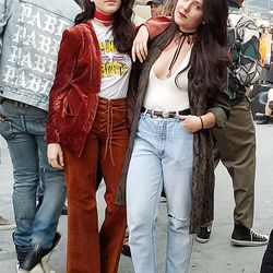 These chic ladies were wonders in '70s crushed velvet and modern-meets-'90s style.