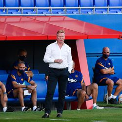 Koeman watches on from the touchline