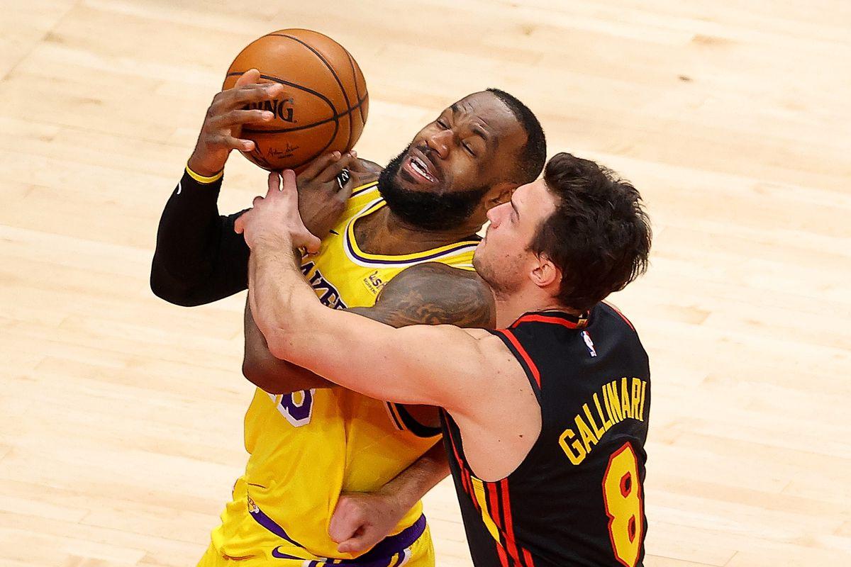 NBA – I Lakers vincono ad Atlanta, LeBron James abbatte gli Hawks di Gallinari