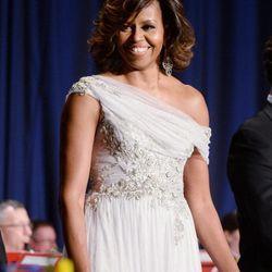 Michelle Obama in Marchesa