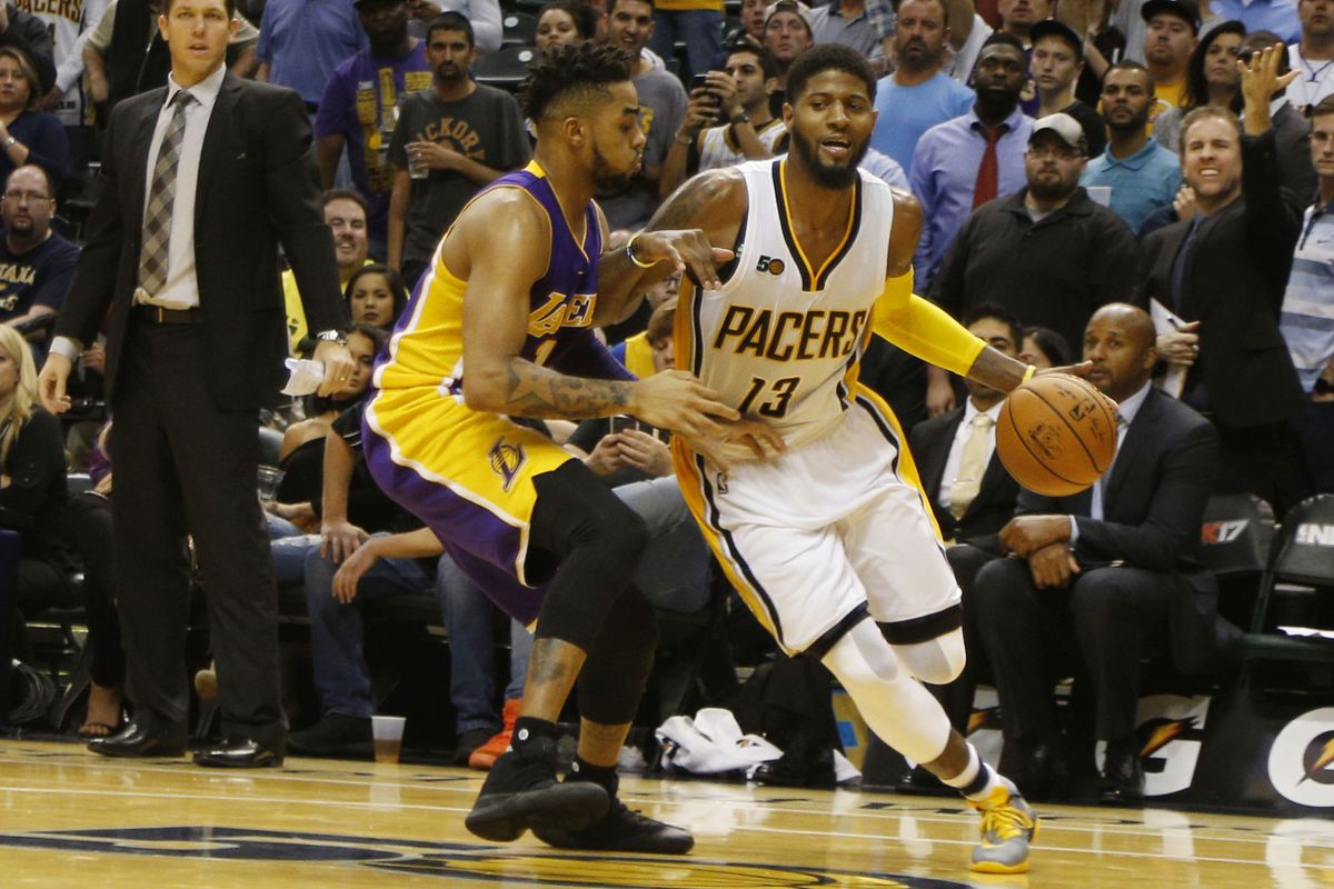 Paul George, mum on future, urges Pacers to sign better players
