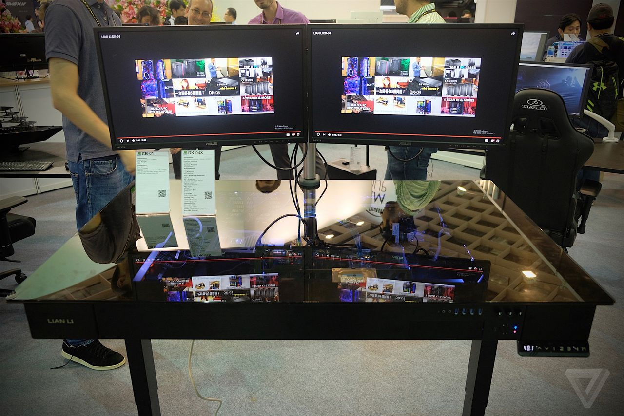 This motorized standing desk is actually a gaming PC The Verge