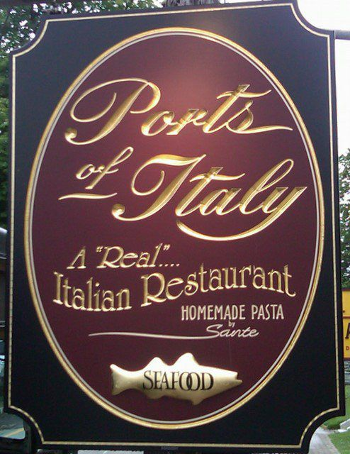 Ports of Italy sign