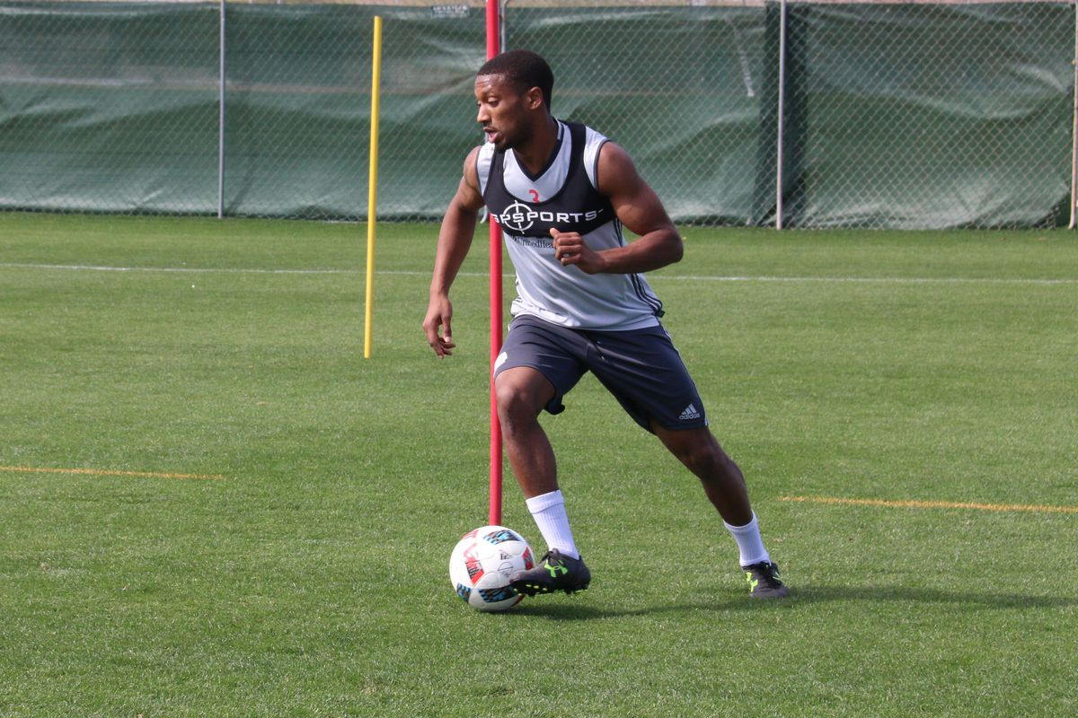 McCrary has played as a left back and right back in scrimmages so far.