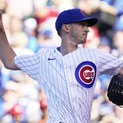 Zach Davies, Cubs starting pitcher on Friday