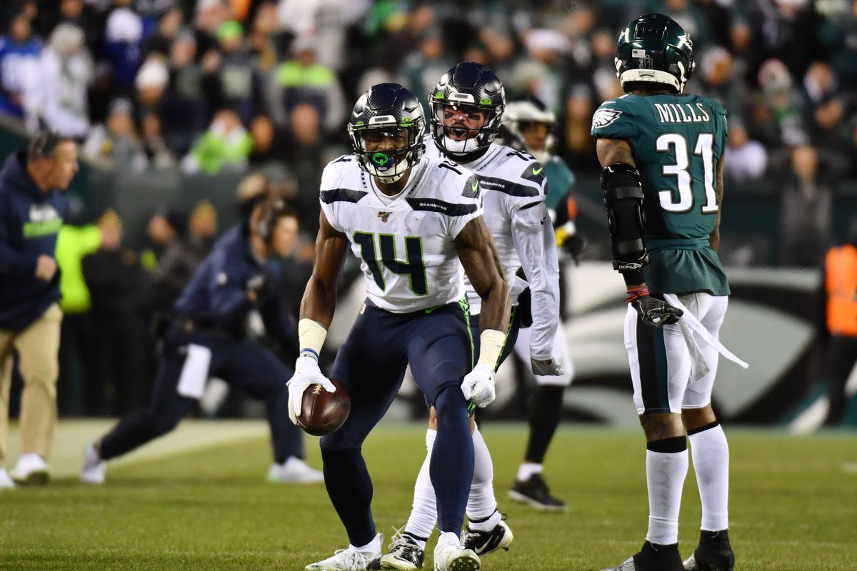 D K Metcalf Stats Seahawks Wr Lighting It Up Vs Eagles In Wild Card Game Draftkings Nation