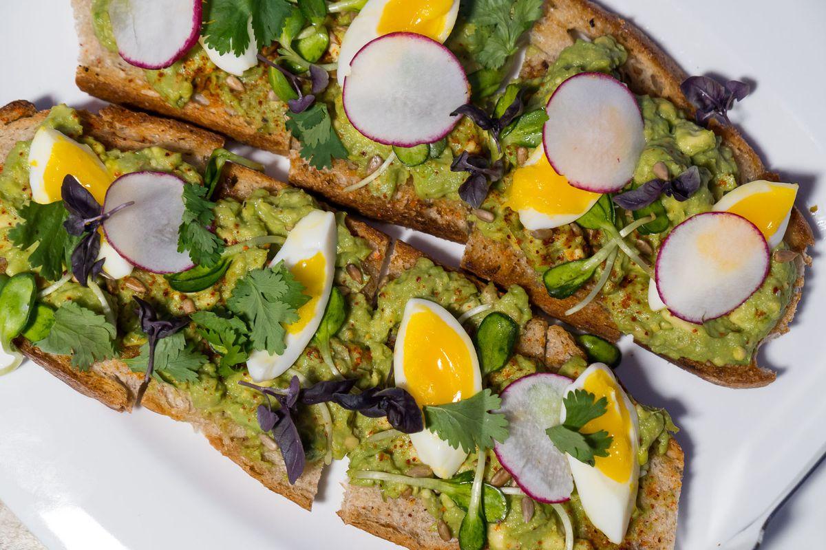 Avocado toast at NoMad Bar