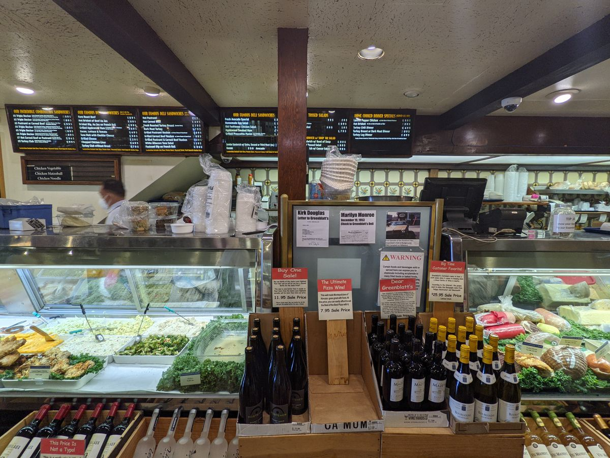 Counter at Greenblatt's Deli in West Hollywood.