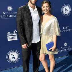 Clayton Kershaw and wife Ellen at the Blue Diamond Gala.