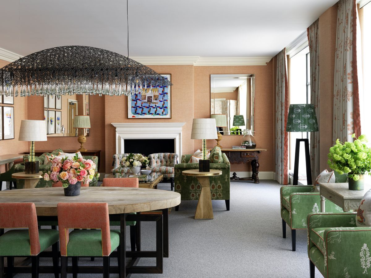 A suite at the Crosby Street Hotel.