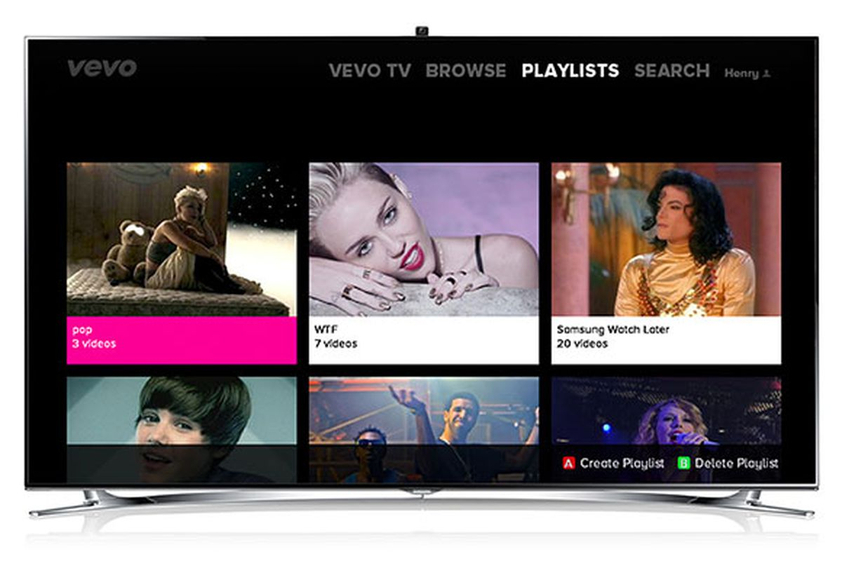 Vevo launches app on Samsung Smart TVs and Blu-ray players - The Verge