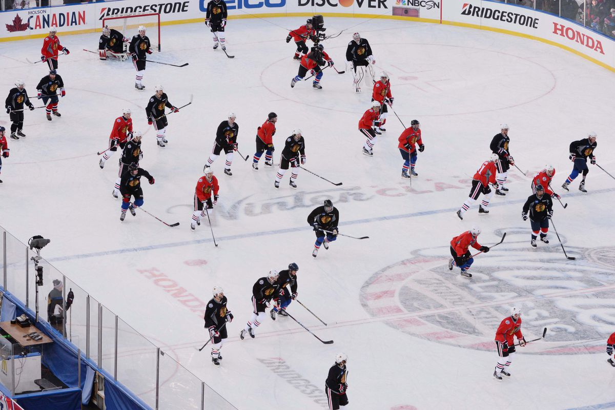 The Warriors skate with Chicago at Nats Park.
