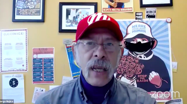 Jorge Mújica, of Arise Chicago, the Chicago-based organization that advocates for workers.