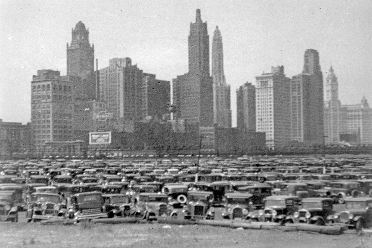 """A view of 1931 Chicago in """"World City in Its Teens."""""""