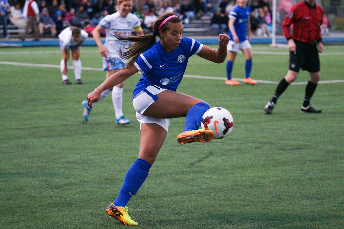 Local forward Frances Silva made her first start