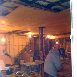 Inside the Frankies restaurant in the old Hudson Corner Cafe Space