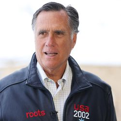 Mitt Romney speaks to members of the media at the Utah Olympic Park in Park City on Friday, Feb. 3, 2017. Romney was at the park for a staff celebration of the 15-year anniversary of the 2002 Olympics.