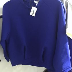 Blue sweater, $30 (was $265)