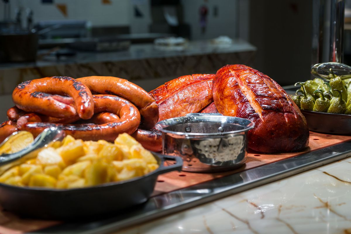 The Carvery inside the Feast Buffet