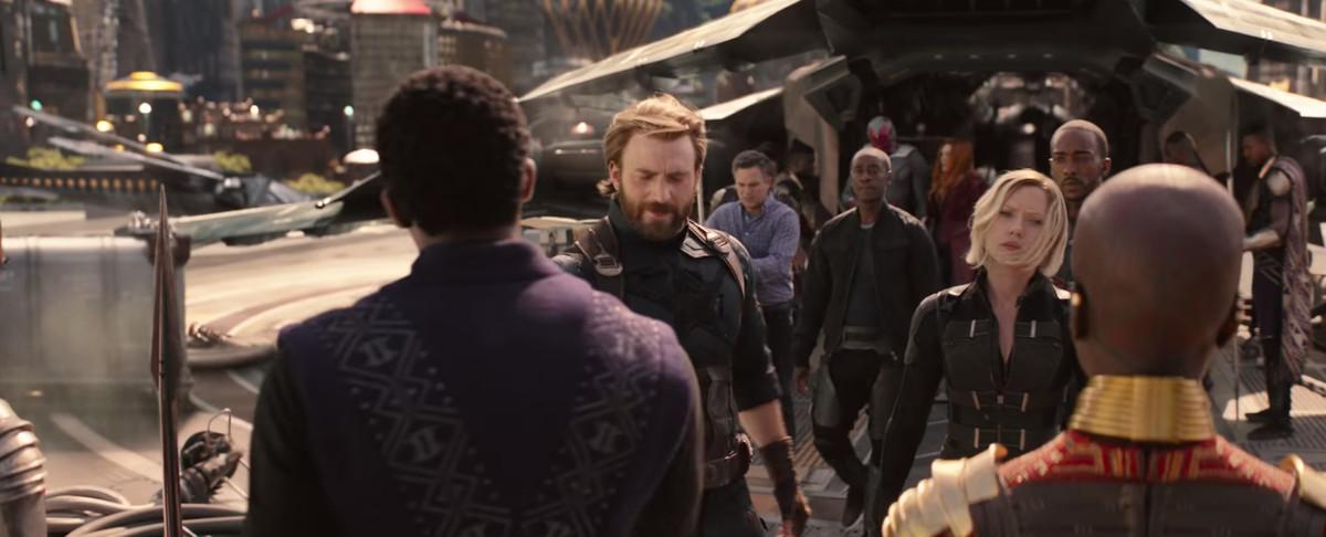Avengers: Infinity War - Captain America and Black Widow meet Black Panther in Wakanda
