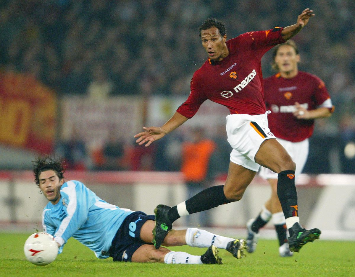 Roma's French defender Jonathan Zebina (