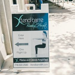 """<b>↑</b>Start working toward that dancer's body with a session at <b><a href="""" http://www.xtendbarrebh.com/"""">Xtend Barre</a></b> (147 Remsen Street). Each class incorporates Pilates and dance for a workout that slims and tones without adding bulky muscle."""