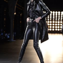 A look from Saint Laurent's fall 2015 runway show.
