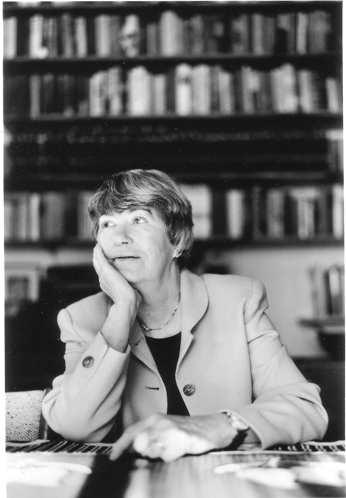 Pulitzer Prize winning local poet Lisel Mueller.