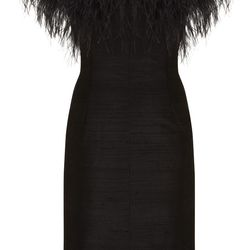 Feather Cocktail Dress, $250
