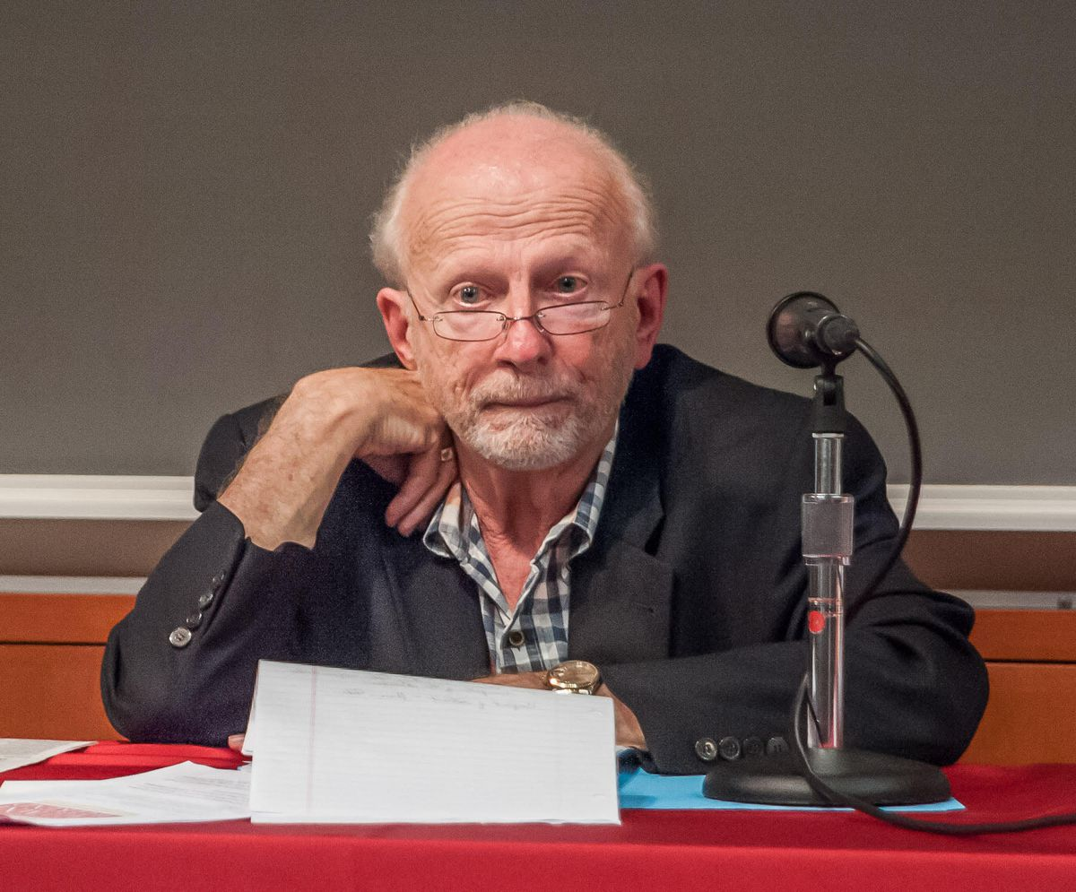 Bill Becker at a 2015 meeting of his class at Haverford College.