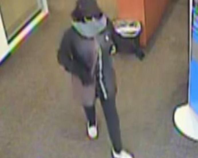 Surveillance image of the woman suspected of robbing a BMO Harris Bank branch April 20, 2019, at 1300 S. Wabash Ave.