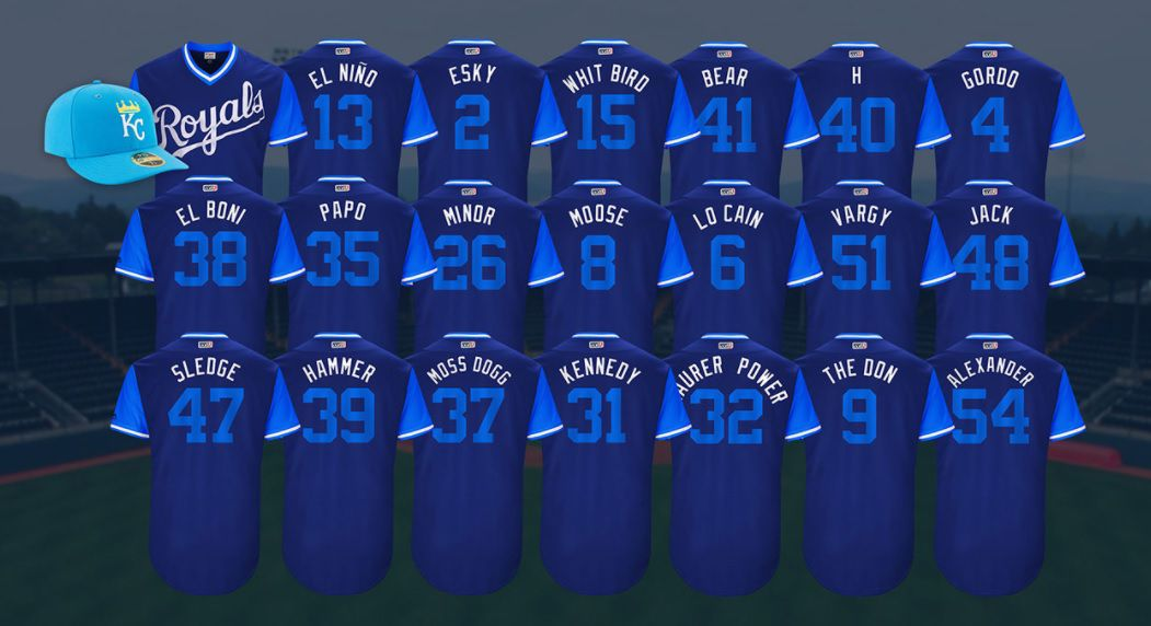 Royals Not Very Creative In Nicknames For Players Weekend Royals
