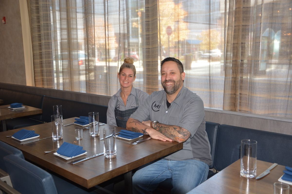 Jennifer Carroll and Mike Isabella at Requin [Photo: Missy Frederick]