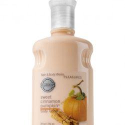 "<a href=""http://www.bathandbodyworks.com/product/index.jsp?productId=2279333"" rel=""nofollow"">Bath and Body Works Sweet Cinnamon Pumpkin Body Lotion</a>: $9.50"
