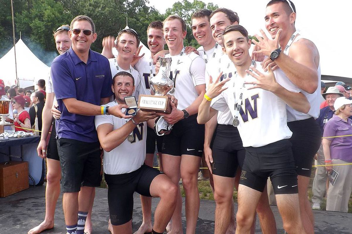 Five straight national championships for your UW Men's Varsity Crew