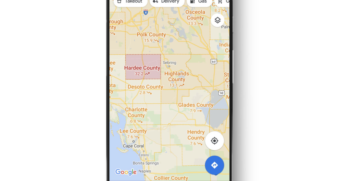 Google Maps adds an overlay of COVID-19 case trends – The Verge