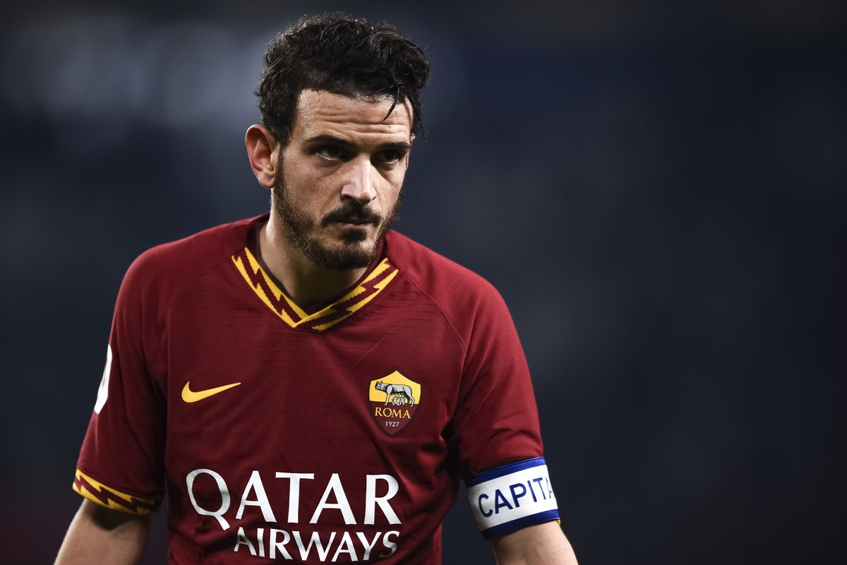 Alessandro Florenzi of AS Roma looks on during the Coppa...