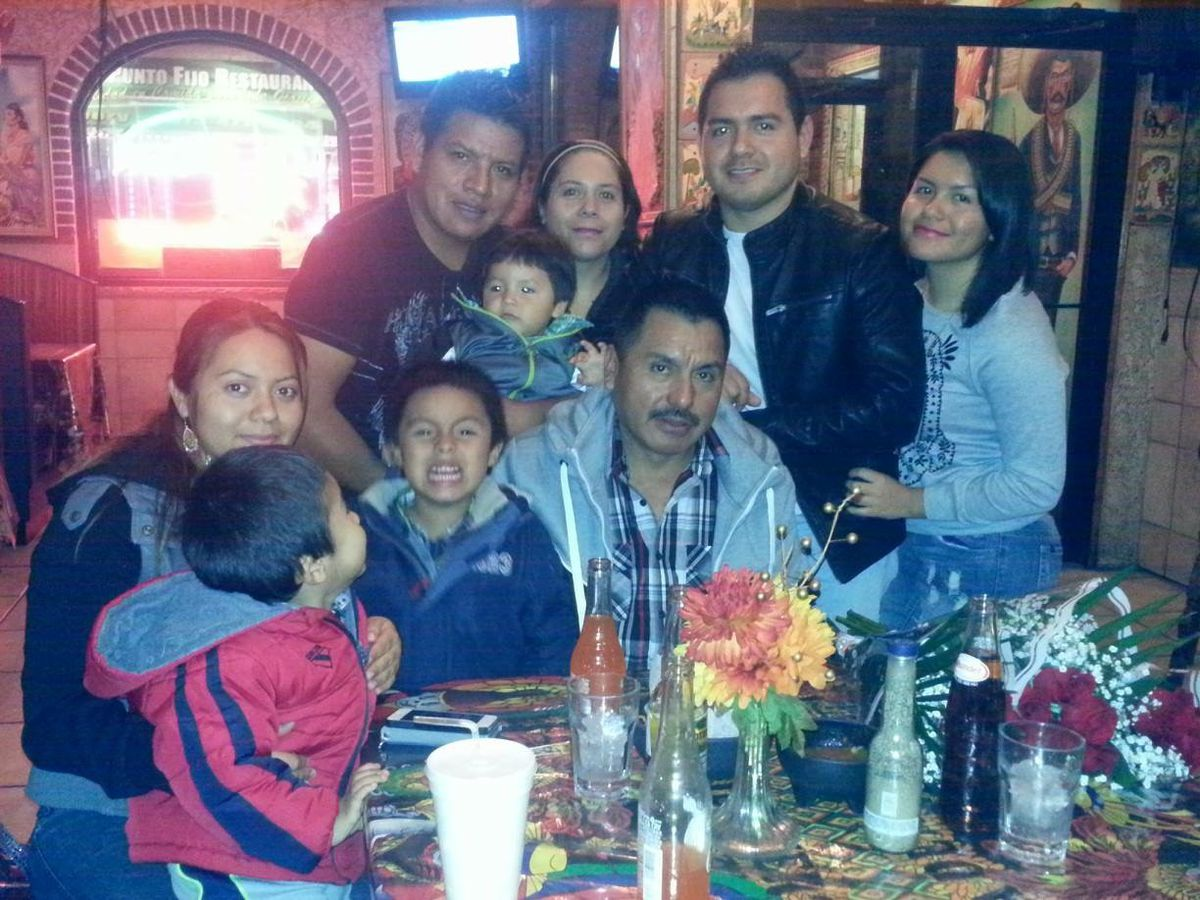 The Rodriguez family at dinner
