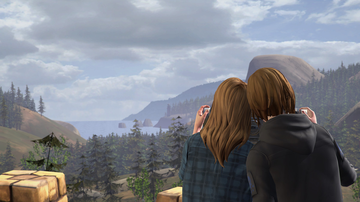Life is Strange: Before the Storm - Chloe and Rachel looking at wilderness