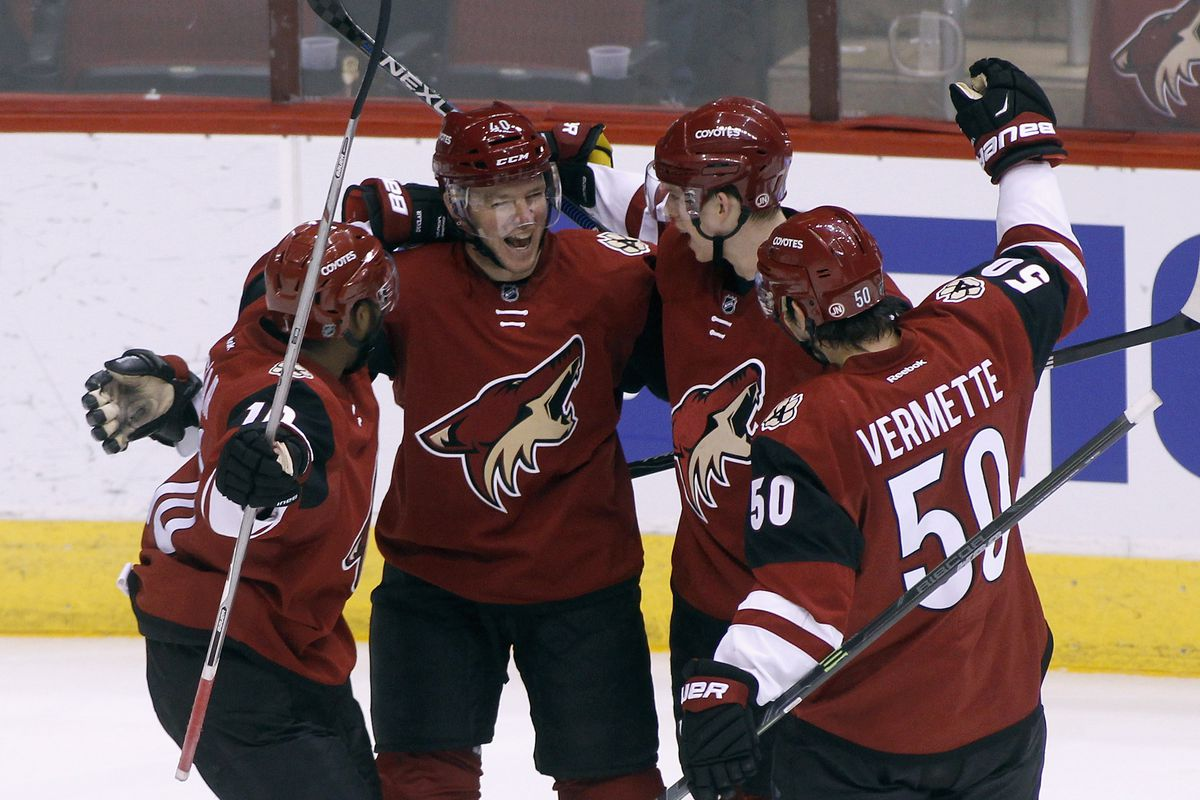 The French connection were influential in the Coyotes' first win since the 18th of February.